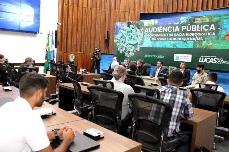 Imagem: Audiência pública tratou sobre o assoreamento e turvamento dos rios da Bacia Hidrográfica da Serra da Bodoquena