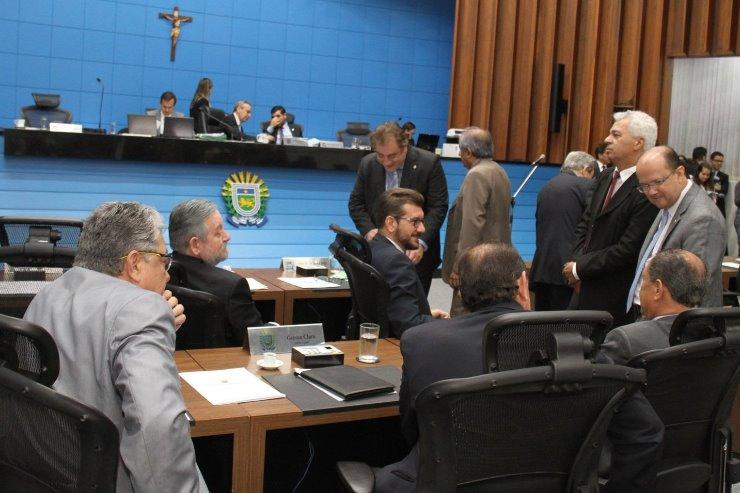 Imagem: Deputados durante sessão plenária na Assembleia Legislativa de Mato Grosso do Sul