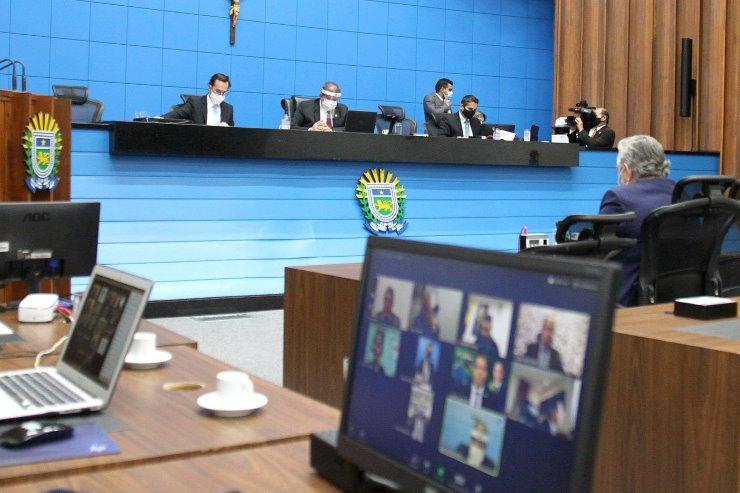Imagem: Em mais uma sessão remota, Mesa Diretora recebe o pedido para reconhecimento de calamidade no município de Coxim