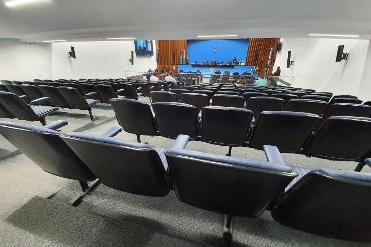 Imagem: Os projetos serão analisados em sessão da ALEMS, realizada no plenário da Casa de Leis com participação remota da maioria dos deputados