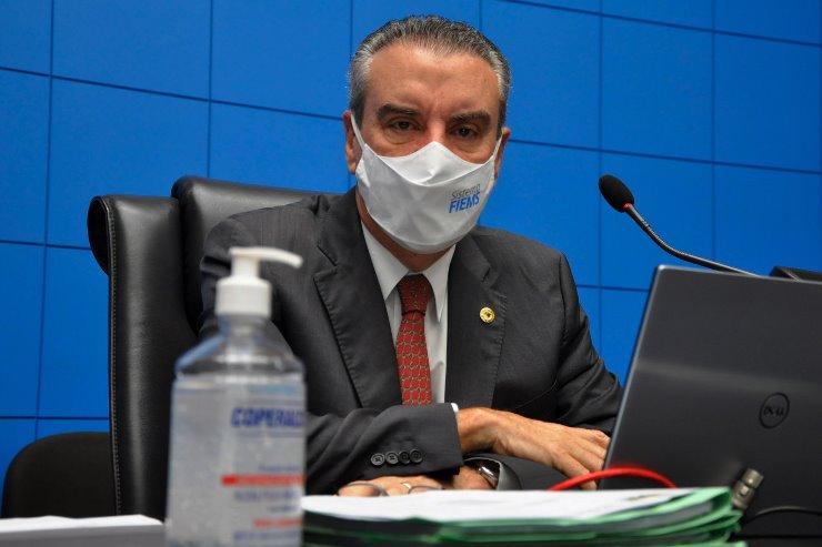 Imagem: A Mesa Diretora da ALEMS é conduzida pelo deputado e presidente Paulo Corrêa